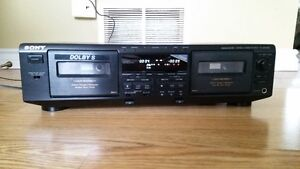 Sony professional dual cassette