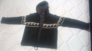 Warm Wool Jacket with Soft Fleece Interior