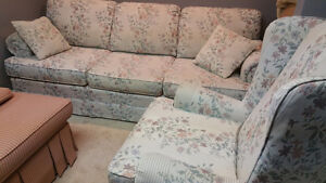 Couch and Wingback and Vogel Slipper Chair