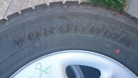 4 stud-less winter tires. Yokohama Geolander I/T. 278/65R18