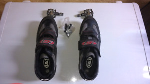 Wellgo pedals + size 12 bike shoes
