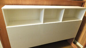 White headboard/bookcase for queen or full bed