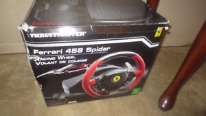 Xbox One Ferrari 458 Spider Steering wheel Pedals New open box