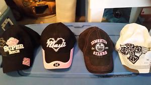 Assorted women's ball caps