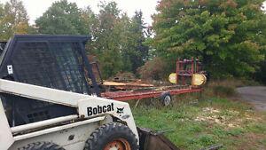 Bobcat and hart wood sawmill