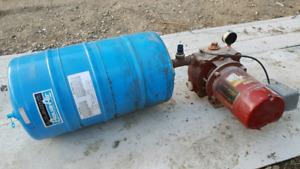 Water pump and pressure tank