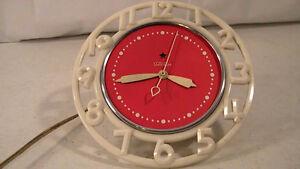 Très Belle Horloge Électrique Mural Téléchron Art Deco
