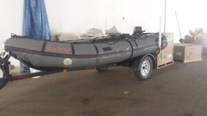 Avon Inflatable- 16 feet boat,motor and trailer package