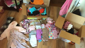 50+ item lot of baby girl clothing