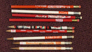 Lot of 9 Coca-Cola pencils