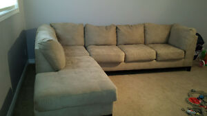 Beige Microfiber Sectional