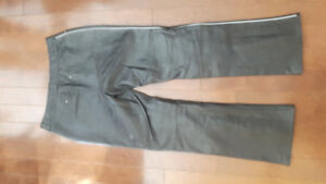 womens lined leather pants