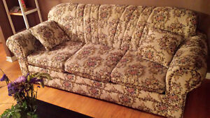3 piece couch set with 5 pillows $200 obo