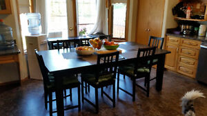 Large ikea table and 6 chairs