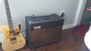 Ad50vt vox amp/ hamer duotone hollow body guitar