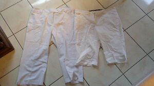 Size 16 and 18 Jessica and Cherokee White Capris