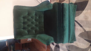 forest green couch and chair