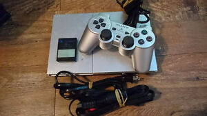 Satin Silver PS2 with Games