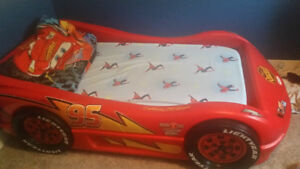 Cars Toddler Bed and Train Table