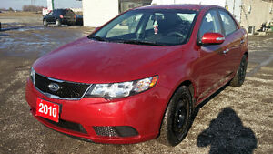 2010 KIA FORTE Sedan ONLY 81000KM 2 year warranty included
