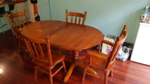 Solid Timber 4 Piece Dining Table and Chairs