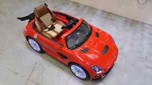Ride on car. Toy car for kids. Mecedes benz.