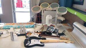 wii avec rockband et plusieurs accessoires