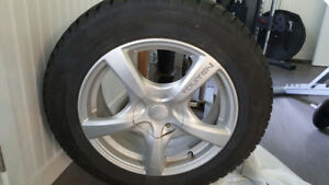 17 inch winter tires with rims, brand used 1 season