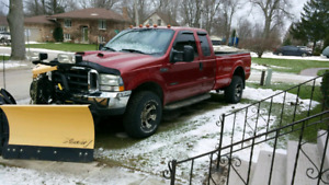 2002 Ford F250 with plow