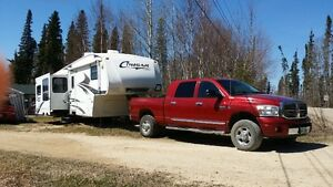 Dodge Ram 2500 Diesel and Cougar Fifth Wheel for Sale