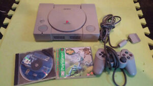Original PS1 With Games & Controller
