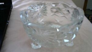 VINTAGE 1920 CRYSTAL CANDY DISH