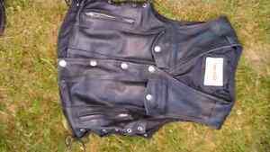 Men's large leather vest