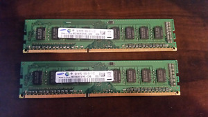 Samsung 1 GB PC RAM x 2