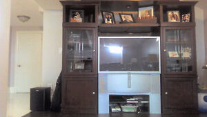 Solid Cherry Wood wall unit
