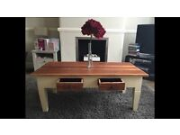 Quirky coffee table with drawers (furniture/bespoke/dining/shabbyChic/farmhouse)