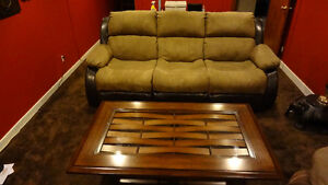 Pre Estate Sale: Dual Reclining Sofa/Couch 1 Yr. Old Teppermans