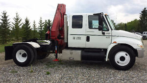 2006 International 4300 DT466 Sleeper with Picker/ Tractor Hitch