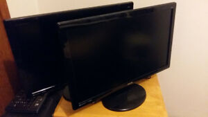 2 Good Condition Benq Monitors (With Cords)