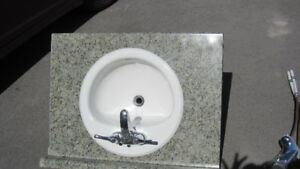 counter top sink and faucet
