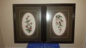 Framed and Matted Needlework
