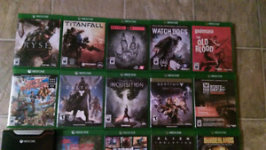 Xbox One games. Contact for prices.