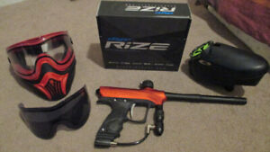 dye rize paintball set up
