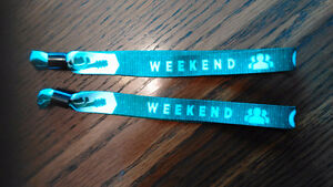 2 General Admission Weekend Bracelets for Cavendish Beach Music