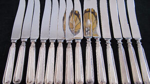 Birk's Regency Plate York pattern knives- 14 in all-excellent West Island Greater Montréal image 3
