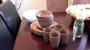 bowls, cups, plates