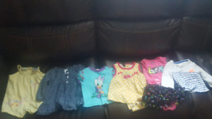Big box of girl clothes over 70 items with free toy