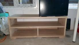 Oak finish coffee tv table