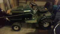"Craftsman 22 hp garden tractor 46""mower and snow blower"