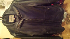 Black Leather Jacket(small/med) and Black Leather Boots(8)